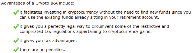 crypto ira advantages