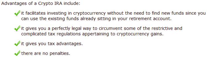 crypto ira advantages