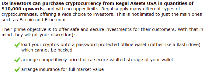 Regal Assets cryptocurrency