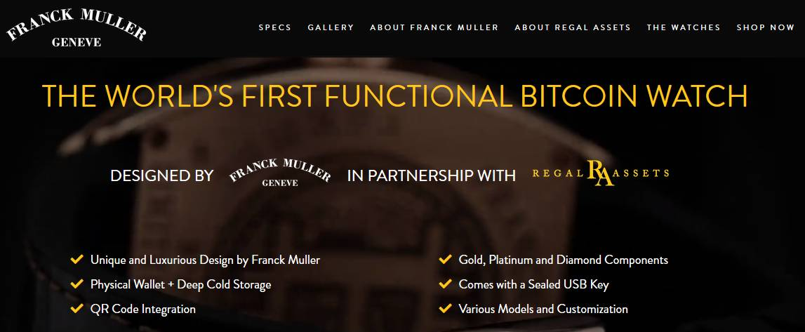 buy Franck Muller Bitcoin watches