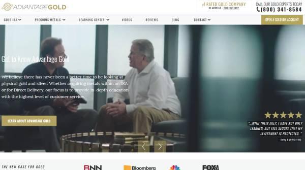 Advantage Gold Website