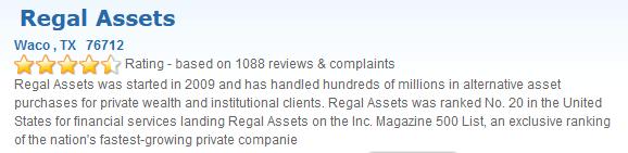 Regal Assets Trustlink April 2021